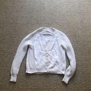 J Brand Ivory White Cardigan Size Small